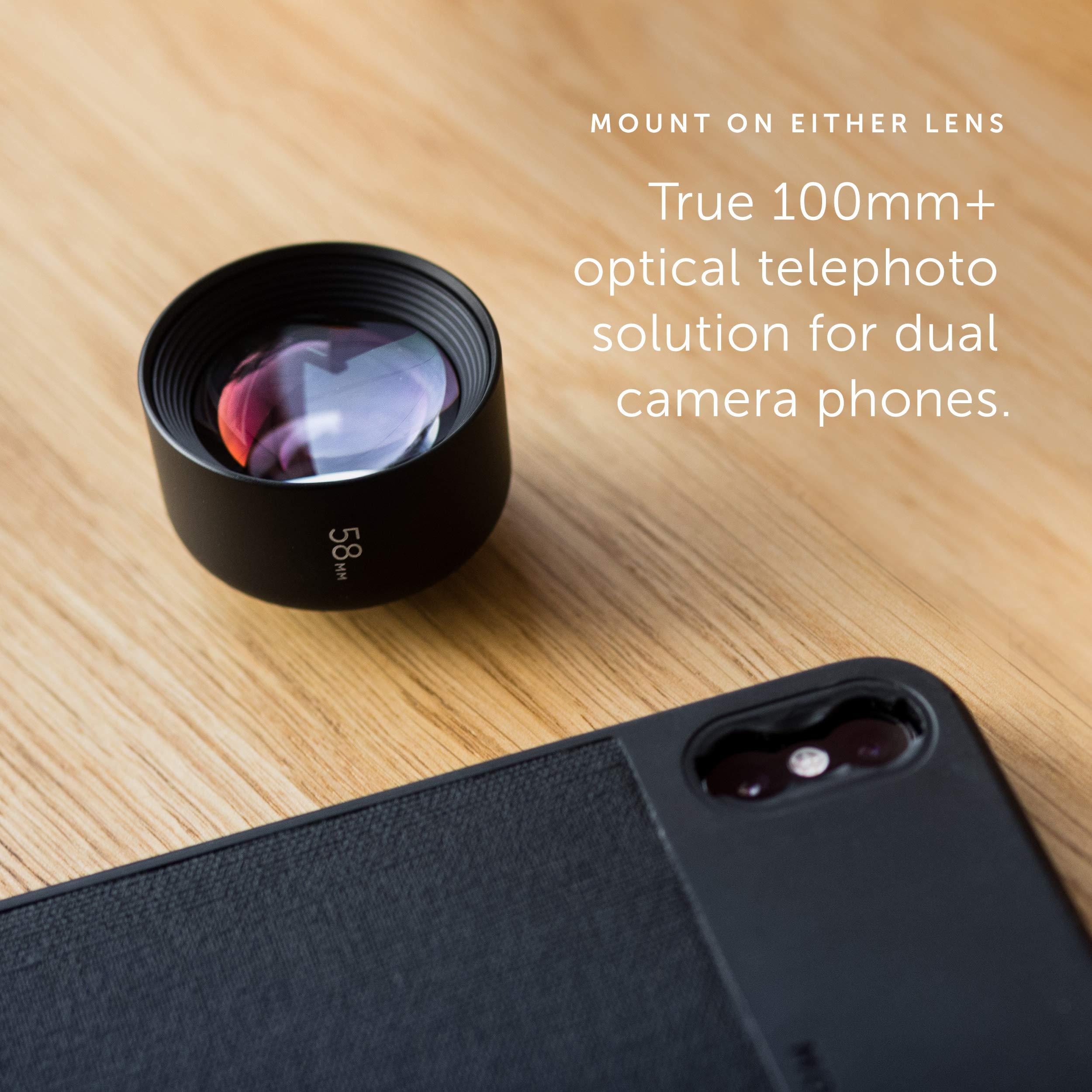 Moment - Lente Tele de 58 mm para iPhone, Pixel, Samsung Galaxy y ...