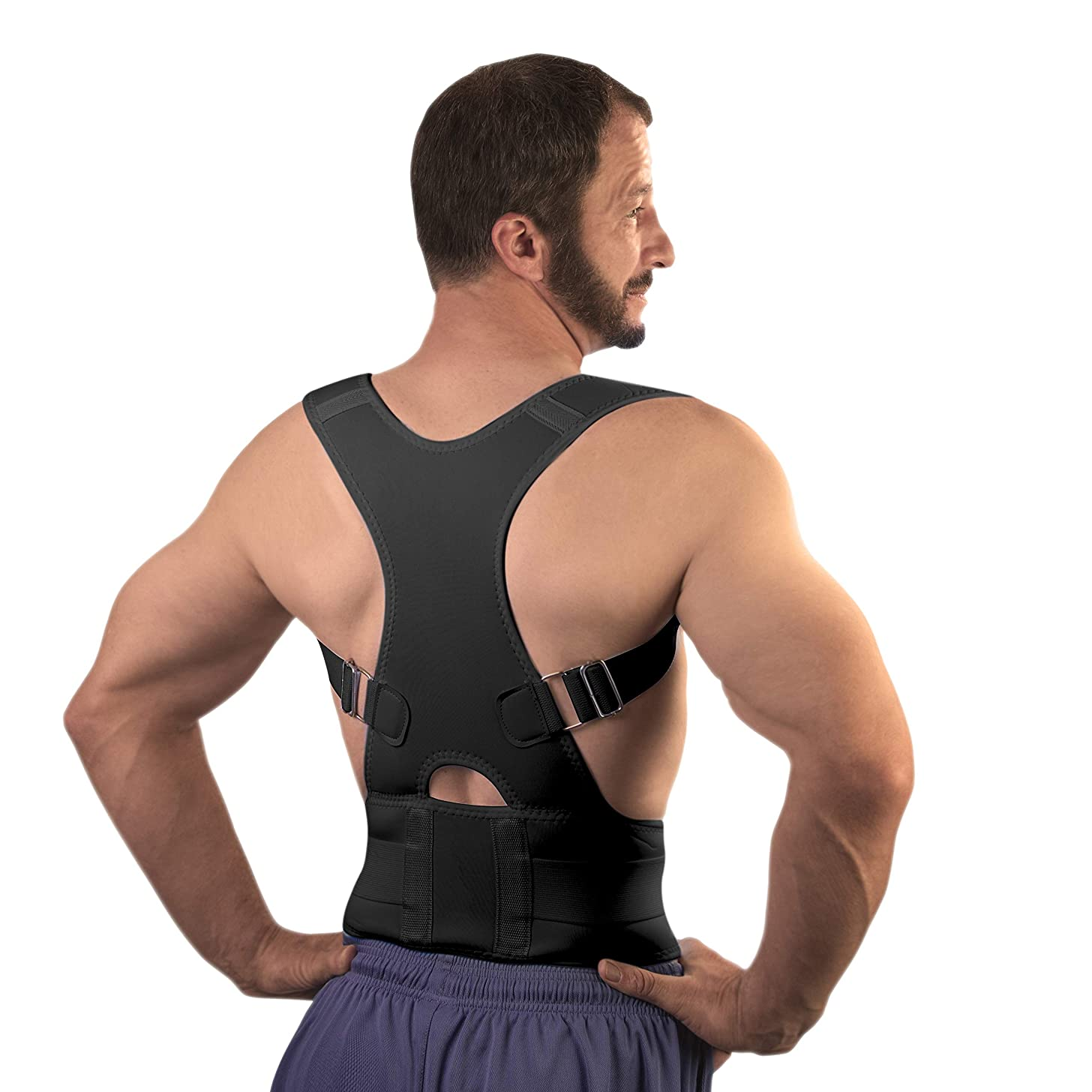 Best Back Brace Posture Corrector for Men & Women (Large - Waist 30