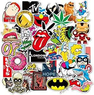 100Pcs Graffiti Band Stickers for Adults and Kids, Waterproof Vinyl Stickers for Laptop Water Bottle Skateborad Luggage Bi...