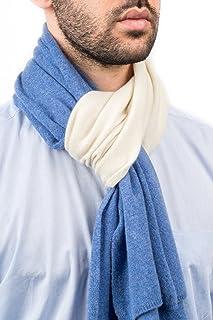 DALLE PIANE CASHMERE - Sciarpa bicolore 100% cashmere - Uomo
