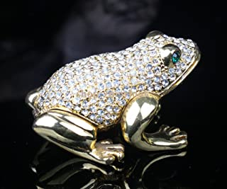 Crystals Studded Frog Jeweled Trinket Box from Shop Znewlook (Silver Crystal)