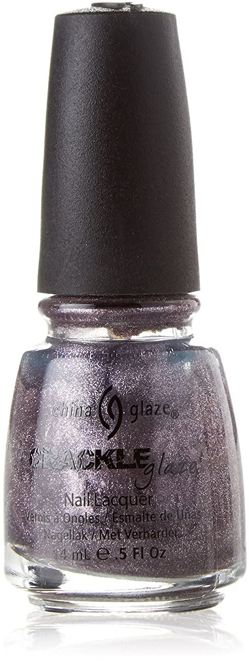 漏斗例示するばかげたCHINA GLAZE Crackle Metals Latticed Lilac (並行輸入品)