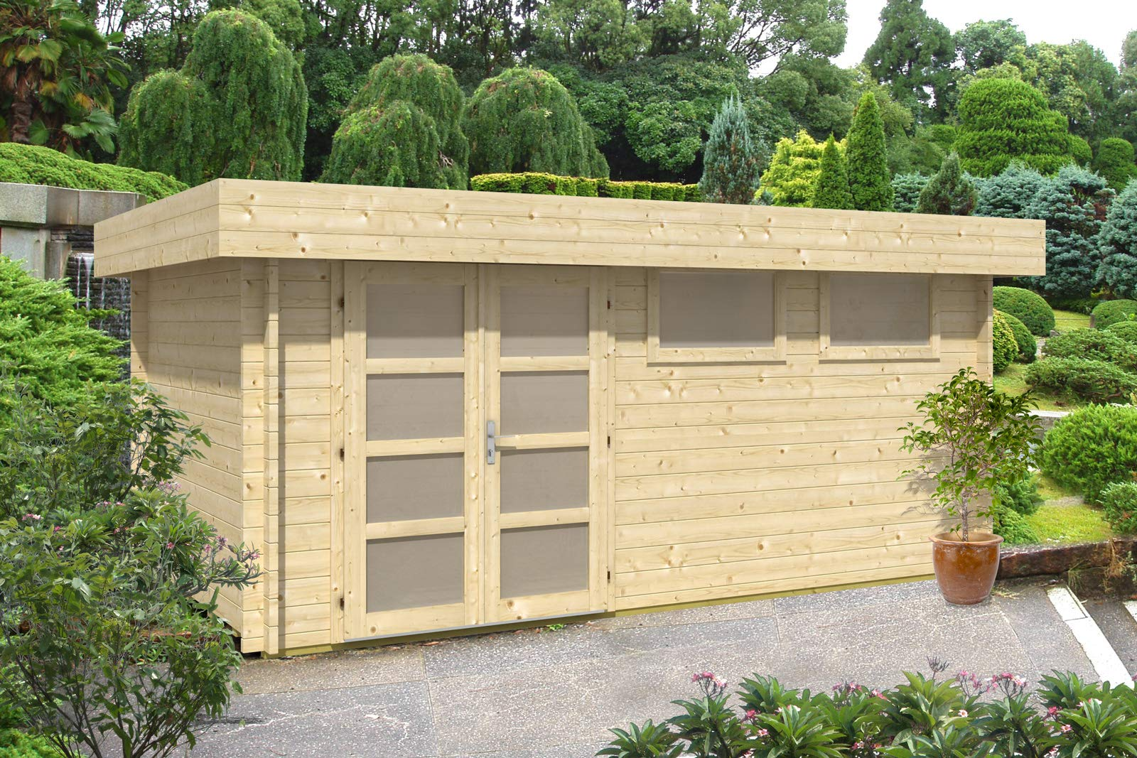 CARLSSON Kyara-44 ISO - Caseta de jardín (44 mm de Grosor, 500 x 298 cm): Amazon.es: Jardín