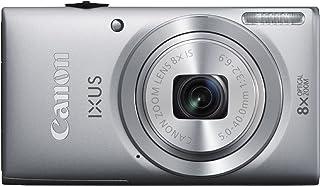 Canon IXUS 132 - Cámara Digital (16 megapíxeles, Gran Angular de 28 mm, Modo Eco, Zoom óptico de 8X, Pantalla LCD de 3,2 Pulgadas), Color Plateado (Importado)