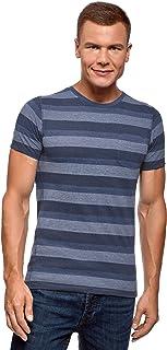 oodji Ultra Men's Striped Crew Neck T-Shirt