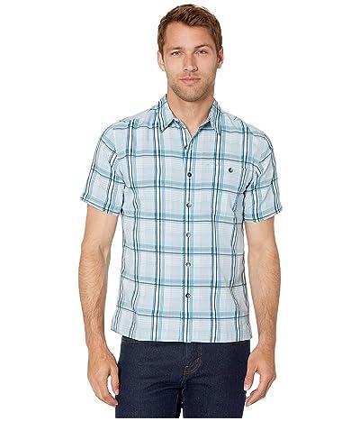 Royal Robbins Mojave Dobby Plaid Short Sleeve Shirt (Cloud) Men