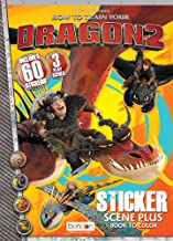 Bendon Publishing How to Train Your Dragon 2 Sticker Scene Plus Book to Color (24 Page)
