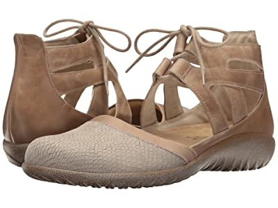 Naot Kata (Beige Iguana Nubuck/Khaki Beige Leather/Arizona Tan Leather) Women