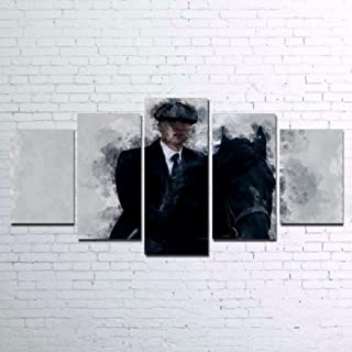 lagifi Peaky Blinders Canvas Painting Poster Set, Wall Art Poster 5 Pieces / 5 Panel Wall Art- Without Frame 20x3520x4520x55cm Frame
