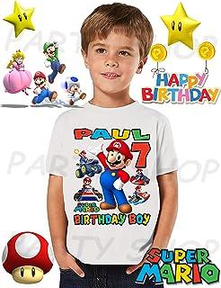 Mario Bros Birthday Shirt, Mario Bros Park Birthday Party, Add Any Name and Age, Family Matching Shirts, Boys and Girls Birthday Shirts, Mario Bros Birthday Shirt, Super Mario Shirt 1
