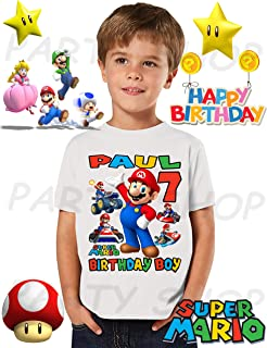 Best super mario bros birthday shirt Reviews