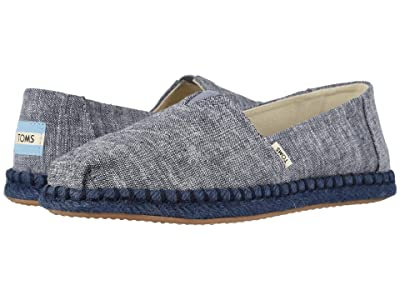 TOMS Alpargata on Rope (Navy Slub Chambray on Rope) Women
