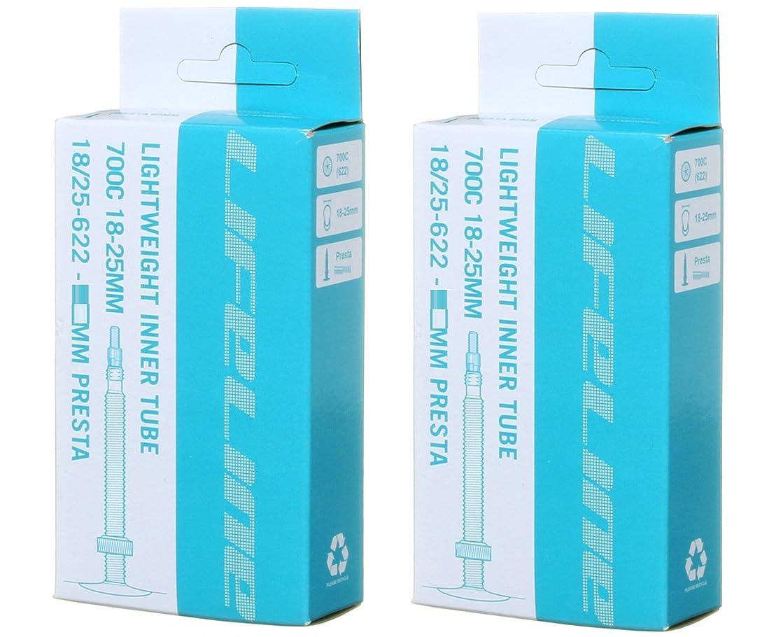 学士救援汚れる2本セット LifeLine Lightweight インナーチューブ 700×18/25c 仏式 ライトウェイト [並行輸入品]