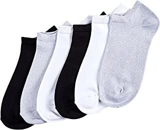 HUE Women's Supersoft No Show Liner Socks 6 Pair Pack