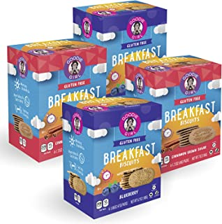 Goodie Girl Cookies Gluten Free Breakfast Biscuits Variety Pack, Gluten Free, Peanut Free, Vegan, Kosher (4 Count Box, Includes 4 Boxes)