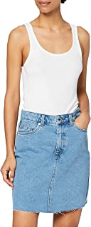 Vero Moda Vmmikky HR S Raw Dnm Skirt Mix Ga Falda para Mujer