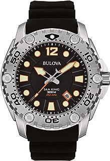 Men's 96B228 Sea King Analog Display Japanese Quartz Black Watch