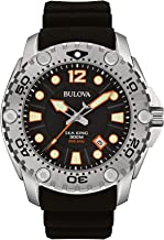 Bulova Men's 96B228 Sea King Analog Display Japanese Quartz Black Watch