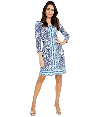 Lilly Pulitzer UPF 50+ Nadine Dress (High Tide Navy Purrfect Set Engineered Chilly Lilly) Women