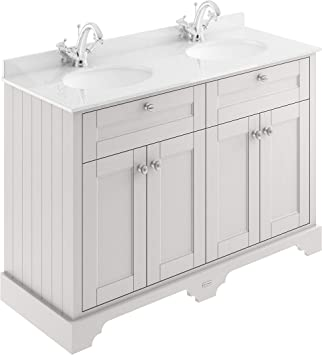Old London Hudson Reed Lof464 ǀ Traditional Bathroom Floor Standing Vanity Double Basin Unit With Two