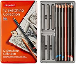 Derwent 12 Sketching Collection: Mixed Drawing Materials by erwent