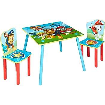 La Pat Patrouille Ensemble Table Et 2 Chaises Pour Enfants Amazon Fr Cuisine Maison