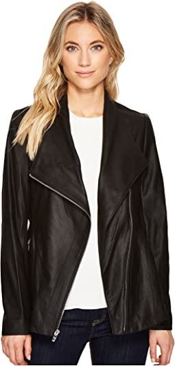 Leather Asymmetrical Zip