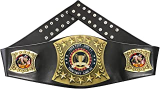 Custom Wrestling Trophy Personalized Championship Leather Belt FCL576