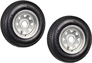 2-Pack Trailer Tire On Rim ST175/80D13 13 in. Load C 4 Lug Galvanized Spoke
