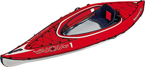 BIC Sport YAKKAIR HP1 Inflatable Kayak, Red/Grey, 10-Feet 9-Inch x 35.4-Inch x 242# Capacity