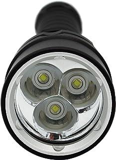 HappyGo IPX8完全防水、USB充電懐中電灯、3*p6-t6 LED、超高輝度、4200+ルーメン ftc、ダブル18650リチウム電池(含む)、磁気センサスイッチ、6018航空アルミニウム材質、ダイビングライト