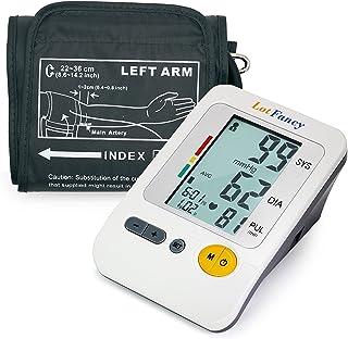 LotFancy Tensiómetro de Brazo Digital con Grande Pantalla LCD, 120 Memorias, 4 Usuarios, Automática de la Presión Arterial y Brazalete Mediano (21.8-35.5cm)