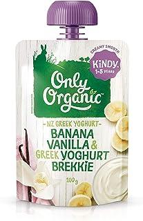 Only Organic Banana Vanilla & Greek Yoghurt Brekkie  Kindy  1-5 Years - 100g