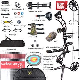 Compound Bow,Compound Hunting Bow Kit,CNC Milling Bow Riser,Limbs Made in USA,19