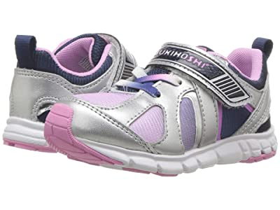 Tsukihoshi Kids Rainbow (Toddler/Little Kid) (Silver/Navy) Girls Shoes