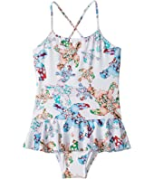 Vilebrequin Kids - Grilly Watercolor Turtles One-Piece Swimsuit (Toddler/Little Kids/Big Kids)