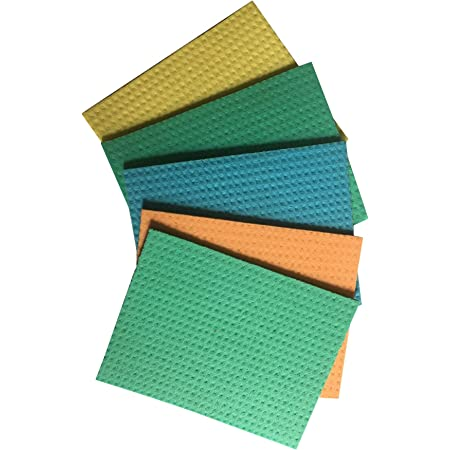 Brite Guard Cellulose Cleaning Sponge Mop (20 x 16 x 0.5 cm, Multicolour) - Pack of 5 Pieces