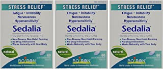 Boiron Sedalia, 3 Pack (60 Tablets per Pack), Homeopathic Medicine for Stress Relief