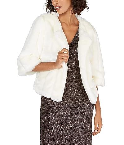 Calvin Klein Solid Faux Fur Shrug
