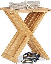 29 Bambus Duschhocker Tritthocker Klapphocker Holz Hocker Faltbarer Gartentisch Nachttisch f/ür Angeln Picknick Strand Nat/ürlich EBTOOLS Klappstuhl 27,8 31 cm