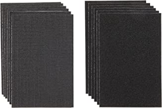 Hook and Loop Strips with Adhesive, 4 x 6 Inches (Black, 6 Pairs)