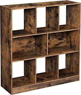 Standregal B/ücherregal Wandregal Aufbewahrungsregal Holz Regal 5 F/ächer Typ 3 Farbe Buche