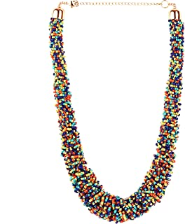 Boho Necklaces for Women - Statement Necklace - Seed Bead Necklaces for Girls and Women