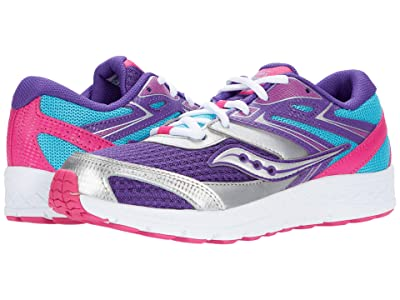 Saucony Kids S-Cohesion 13 LTT (Little Kid/Big Kid) (Purple/Turquoise/Pink) Girls Shoes