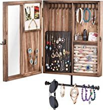 rustic wall mounted jewelry cabinet