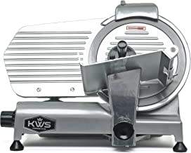 KWS MS-10NS Premium Commercial 320w Electric Meat Slicer 10-Inch Stainless Steel Blade, Deli Meat Frozen Meat Cheese Food Slicer Low Noises Commercial and Home Use