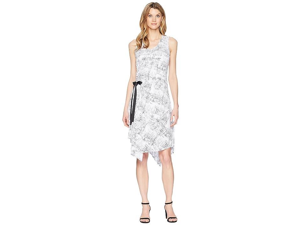 Ellen Tracy Ruched Dress (Whitney-E White) Women
