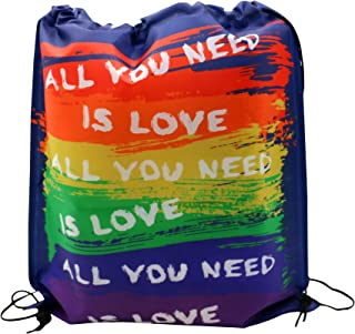 Gay Pride Drawstring Bag Cinch Sack Backpack