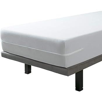 SAVEL, Funda colchón Rizo Microfibra, elástica y Ajustable, 60x120 (para Camas de 60)
