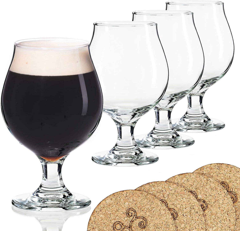 Beer Glass Belgian Style Stemmed Lambic New sales 16 Tulip half oz -